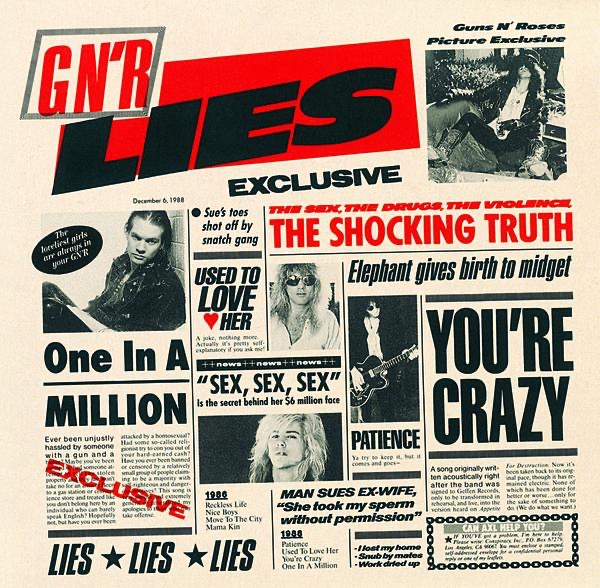 G N R Lies Guns N Roses CD cover