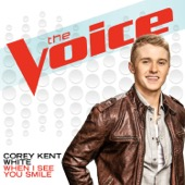 corey kent white-when i see you smile the voice performance