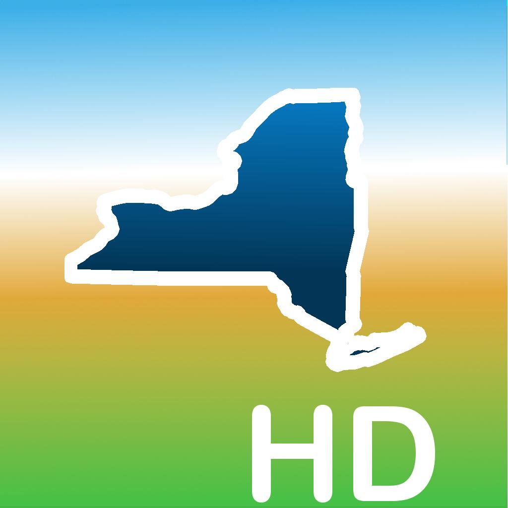 Aqua Map New York HD - Lakes GPS Offline Nautical Charts