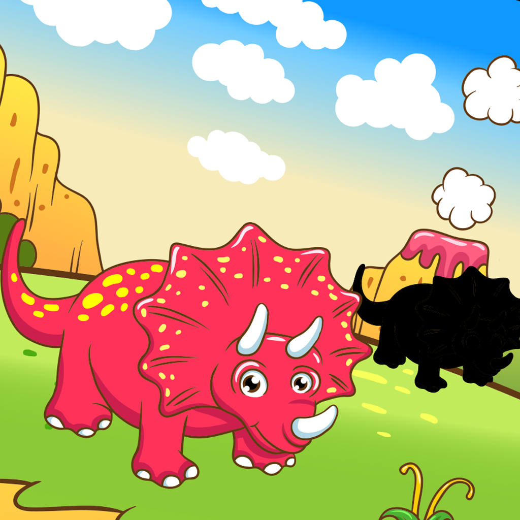 A Dinosaurs Shadow Game: Learn and Play for Children with Extinct Animals