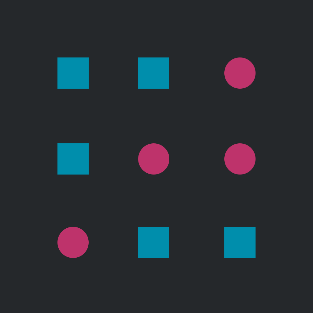 BlockCircleBlock — a tic tac toe game