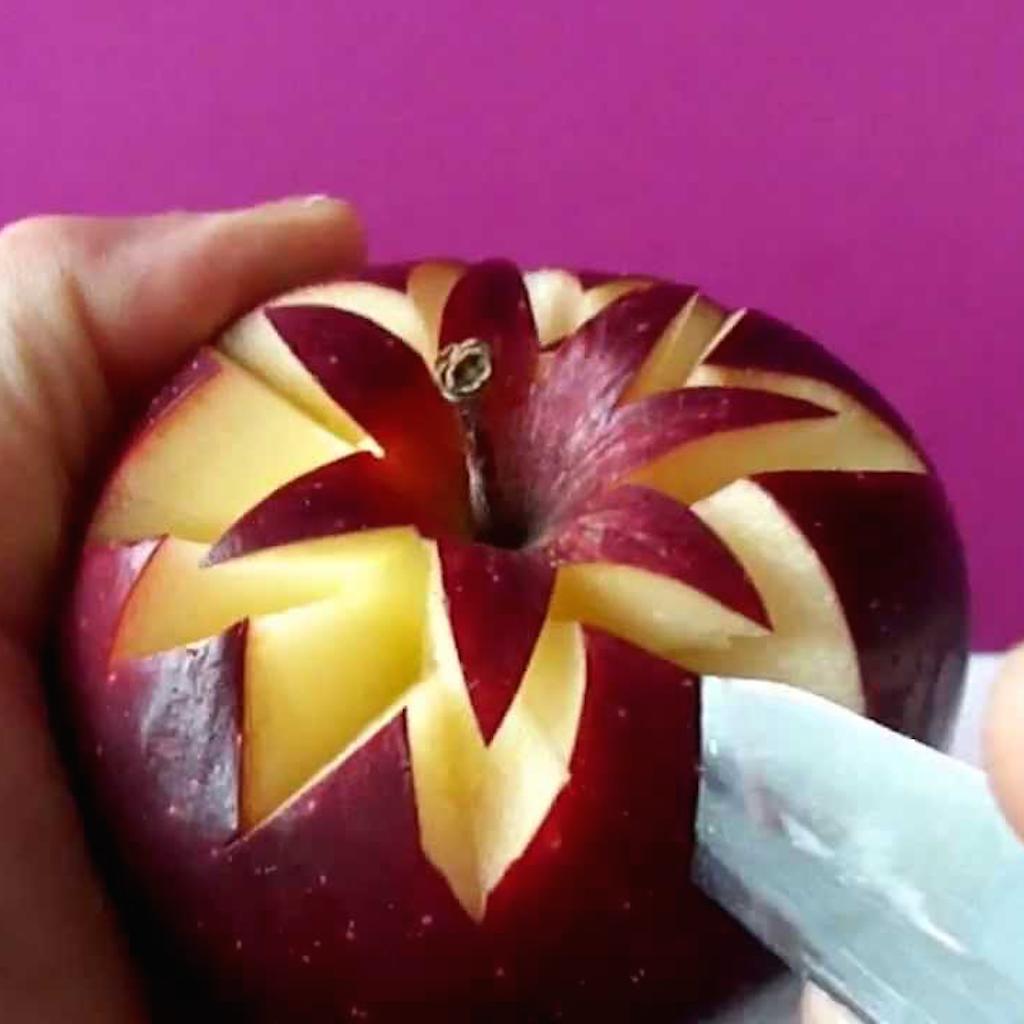 Как сделать из яблока фото