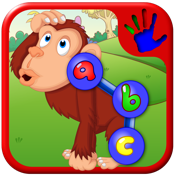 学龄前 ABC 动物园动物连接点的拼图 — — 教数字字母和形状