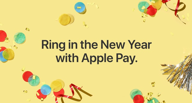 Ring in the New Year with Apple Pay.