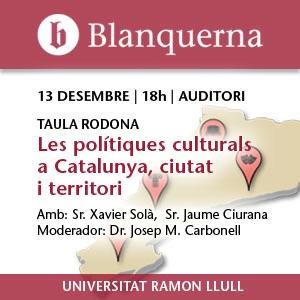 Les polítiques culturals a Catalunya, ciutat i territori