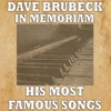 Dave Brubeck in Memoriam (His Most Famous Songs) ジャケット写真