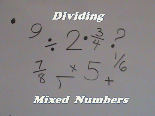 Divide Mixed Numbers