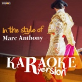Karaoke (In the Style of Marc Anthony)