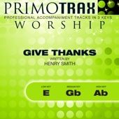 Give Thanks - Praise & Worship Primotrax - Performance Tracks