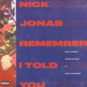Nick Jonas - Remember I Told You (feat. Anne-Marie & Mike Posner)  artwork