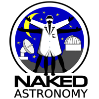 Podcast cover art for Naked Astronomy, from the Naked Scientists