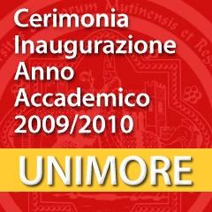 Cerimonia di inaugurazione dell'Anno Accademico 2009-2010 [Video]
