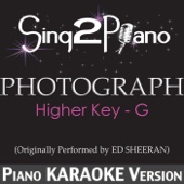Photograph (Higher Key) [Originally Performed By Ed Sheeran] [Piano Karaoke Version]