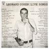 Live Songs (Remastered), Leonard Cohen