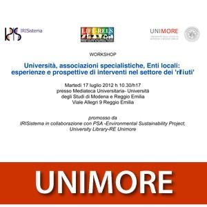 Universita, associazioni specialistiche, Enti locali: esperienze e prospettive di interventi nel set...