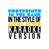 Footprints in the Sand (In the Style of Leona Lewis) [Karaoke Version]