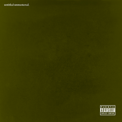 Kendrick Lamar untitled unmastered. Album Cover