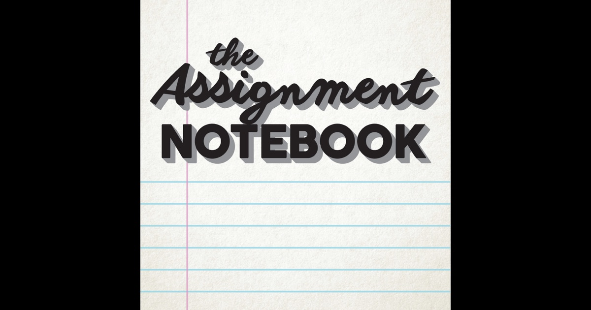 the assignment notebook the assignment notebook by zach. Black Bedroom Furniture Sets. Home Design Ideas