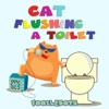 Cat Flushing a Toilet - Single