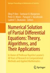 Numerical Solution Of Partial Differential Equations Theory Algorithms And Their Applications