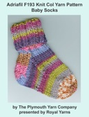 Adriafil F193 Knit Col Yarn Pattern Baby Socks