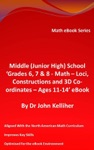 Middle Junior High School Grade 6 7  8 - Math  Loci Constructions And 3D Co-ordinates  Ages 11-14 EBook