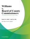 Williams V Board Of County Commissioners