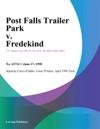 Post Falls Trailer Park V Fredekind