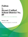 Fulton V Dysart Unified School District No 89