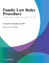 Family Law Rules Procedure