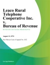 Leaco Rural Telephone Cooperative Inc V Bureau Of Revenue