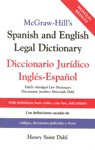 McGraw-Hills Spanish And English Legal Dictionary  Doccionario Juridico Ingles-Espanol
