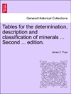 Tables For The Determination Description And Classification Of Minerals  Second  Edition