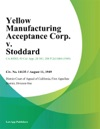 Yellow Manufacturing Acceptance Corp V Stoddard