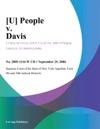 U People V Davis