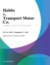Hobbs V Transport Motor Co
