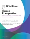 U OSullivan V Harran Transportion