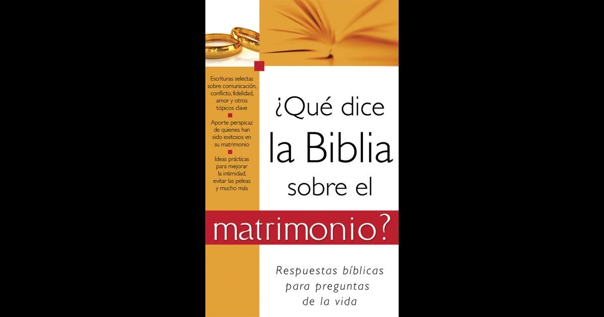 El Amor Matrimonio Biblia : Qué dice la biblia sobre el matrimonio by barbour