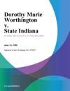 Dorothy Marie Worthington V State Indiana