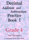Decimal Addition And Subtraction Practice Book 1 Grade 4