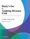 Dustys Inc V Auditing Division Utah