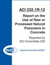 ACI 2321R-12 Report On The Use Of Raw Or Processed Natural Pozzolans In Concrete