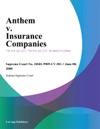 Anthem V Insurance Companies