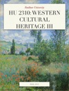 HU 2310 Western Cultural Heritage III