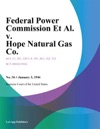 Federal Power Commission Et Al V Hope Natural Gas Co