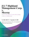 U 7 Highland Management Corp V Mccray