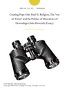 Creating Pope John Paul II Religion The War On Terror And The Politics Of Discourses Of Howardage John Howard Essay