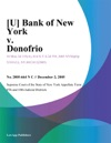 U Bank Of New York V Donofrio