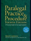 Paralegal Practice  Procedure Fourth Edition