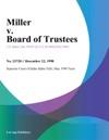 Miller V Board Of Trustees